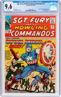 Sgt. Fury and His Howling Commandos #13 (Marvel, 1964) CGC NM+ 9.6 Off-white pages