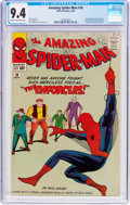 Silver Age (1956-1969):Superhero, The Amazing Spider-Man #10 (Marvel, 1964) CGC NM 9.4 Cream tooff-white pages....