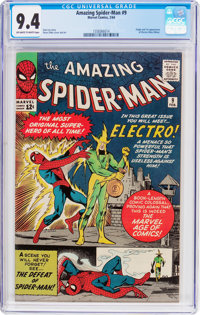 The Amazing Spider-Man #9 (Marvel, 1964) CGC NM 9.4 Off-white to white pages