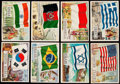 """Non-Sport Cards:Sets, 1956 Topps """"Flags Of The World"""" Near Set (70/80) Plus Three Duplicates.. ..."""