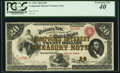 Large Size:Compound Interest Treasury Notes, Fr. 191a $20 1864 Compound Interest Treasury Note PCGS ExtremelyFine 40.. ...