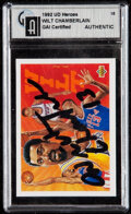Autographs:Sports Cards, Signed 1992 Upper Deck Heroes Wilt Chamberlain GAI Authentic. . ...