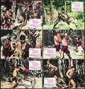 "Movie Posters:Adventure, Tarzan and the Lost Safari (Filmax, R-1973) Very Fine-. Spanish Lobby Card Set of 12 (9.5"" X 13.25""). Adventure.. ... (Total: 12 Items)"
