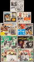 "Movie Posters:Adventure, Tarzan and the Slave Girl & Other Lot (MGM, 1950). Overall: Fine/Very Fine. Mexican Lobby Cards (9) (11"" X 13.75"" - 12.75"" X... (Total: 9 Items)"