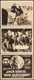 "Movie Posters:Western, Don Quickshot of the Rio Grande (Universal, 1923). Title Lobby Card& Lobby Cards (2) (11"" X 14""). Western.. ... (Total: 3 Items)"