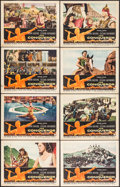 """Movie Posters:Action, The Conqueror (RKO, 1956). Lobby Card Set of 8 (11"""" X 14"""").Western.. ... (Total: 8 Items)"""