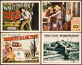 """Movie Posters:Western, Riders of the Cactus & Others Lot (Big 4 Film, 1931). TitleLobby Cards (2) & Lobby Cards (2) (11"""" X 14""""). Western.. ...(Total: 4 Items)"""
