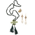 Estate Jewelry:Suites, Multi-Stone, Cultured Pearl, Gold Jewelry. ... (Total: 3 Items)