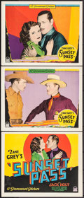 """Movie Posters:Western, Sunset Pass (Paramount, 1929). Title Lobby Card & Lobby Cards (2) (11"""" X 14""""). Western.. ... (Total: 3 Items)"""