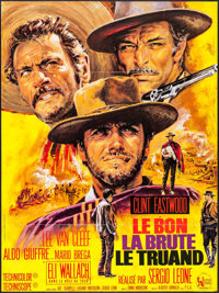 """The Good, the Bad and the Ugly (United Artists, R-1970s). French Grande (45.75"""" X 61"""") Jean Mascii Artwork. We..."""