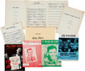Movie/TV Memorabilia:Documents, A Frank Sinatra Group of Music Scores and Sheet Music, 1940s-1990s....