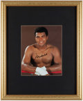 Autographs:Photos, Muhammad Ali Signed Oversized Photograph. . ...