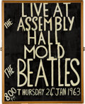 Music Memorabilia:Posters, Beatles Hand Painted Mold (Wales) Assembly Hall Concert Poster (UK,1963). ...