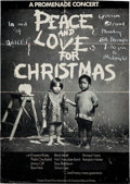 Music Memorabilia:Posters, Beatles - John Lennon's Plastic Ono Band Rare Peace and Love forChristmas Poster (London, 1969)....