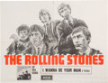 """Music Memorabilia:Posters, Rolling Stones """"I Wanna Be Your Man"""" Decca Rare Promotional PosterFrom Their Debut EP (UK, 1964)...."""
