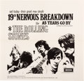 "Music Memorabilia:Posters, Rolling Stones ""19th Nervous Breakdown B/W ""As Tears Go By""Promotional Poster (UK, 1966)...."