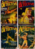 Pulps:Detective, Super-Detective Stories Group of 26 (Trojan Publishing, 1941-47)Condition: Average GD.... (Total: 26 Comic Books)