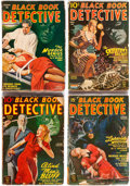 Pulps:Detective, Black Book Detective Group of 9 (Better Publications, 1944-50)Condition: Average GD+.... (Total: 9 Items)