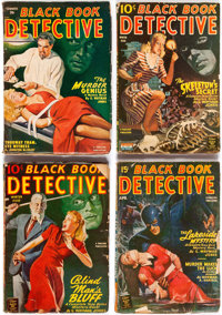 Black Book Detective Group of 9 (Better Publications, 1944-50) Condition: Average GD+.... (Total: 9 Items)