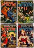 Pulps:Detective, Popular Detective Group of 13 (Better Publications, 1943-51)Condition: Average GD.... (Total: 13 Comic Books)