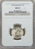 Dominican Republic, Dominican Republic: Republic 5 Centavos 1944 MS65 NGC,...