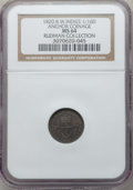 """British West Indies, British West Indies: British Colony. George IV """"Anchor"""" 1/16 Dollar1820 MS64 NGC,..."""