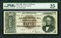 Large Size:Silver Certificates, Fr. 328 $50 1880 Silver Certificate PMG Very Fine 25.. ...