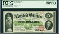 Large Size:Legal Tender Notes, Fr. 61c $5 1862 Legal Tender PCGS Choice About New 58PPQ.. ...