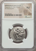 Ancients:Greek, Ancients: MACEDONIAN KINGDOM. Alexander III the Great (336-323 BC).AR tetradrachm. NGC AU....