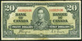 Canadian Currency, BC-25c $20 1937. ...