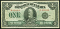 Canadian Currency, DC-25a $1 1923. ...