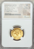 Ancients:Byzantine, Ancients: Phocas (AD 602-610). AV solidus (4.49 gm). NGC MS 4/5 -4/5....