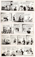 Original Comic Art:Comic Strip Art, Frank Willard Moon Mullins Daily Comic Strip Original ArtGroup of 5 (News Syndicate, 1939).... (Total: 5 Original Art)