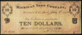 Obsoletes By State:Michigan, Greenwood, MI- Michigan Iron Company $10 Jan. 3, 1874. ...