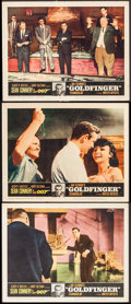 """Movie Posters:James Bond, Goldfinger (United Artists, 1964). Lobby Cards (3) (11"""" X 14""""). James Bond.. ... (Total: 3 Items)"""