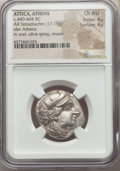 Ancients:Greek, Ancients: ATTICA. Athens. Ca. 440-404 BC. AR tetradrachm (17.19gm). NGC Choice AU 4/5 - 4/5....