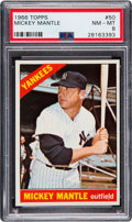 Baseball Cards:Singles (1960-1969), 1966 Topps Mickey Mantle #50 PSA NM-MT 8. ...