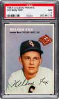 Baseball Cards:Singles (1950-1959), 1954 Wilson Franks Nellie Fox PSA NM 7....