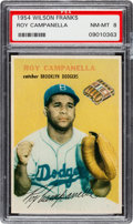Baseball Cards:Singles (1950-1959), 1954 Wilson Franks Roy Campanella PSA NM-MT 8 - None Higher....