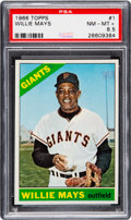 Baseball Cards:Singles (1960-1969), 1966 Topps Willie Mays #1 PSA NM-MT+ 8.5. ...