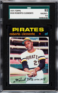 Baseball Cards:Singles (1970-Now), 1971 Topps Roberto Clemente #630 SGC 92 NM/MT+ 8.5. ...