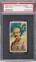 """Baseball Cards:Singles (Pre-1930), 1888 N162 Goodwin """"Champions"""" King Kelly PSA NM-MT 8 - None Higher...."""