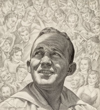 Ernest Hamlin Baker (American, 1889-1975) Bing Crosby, Time magazine cover, April 7, 1941 Pencil on
