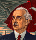 Other, Ernest Hamlin Baker (American, 1889-1975). Turkey's Inonu, Time magazine cover, May 19, 1941. Gouache on board. 10.75 x ...