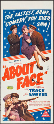 "About Face (United Artists, 1942). Australian Daybill (13.25"" X 30""). Comedy"