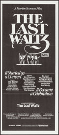 "Movie Posters:Rock and Roll, The Last Waltz (United Artists, 1978). Australian Daybill (13"" X30""). Rock and Roll.. ..."