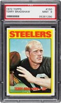 Football Cards:Singles (1970-Now), 1972 Topps Terry Bradshaw #150 PSA Mint 9....