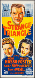 "Movie Posters:Film Noir, Strange Triangle (20th Century Fox, 1946). Australian Daybill(13.25"" X 30""). Film Noir.. ..."