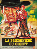 "Movie Posters:Western, The Searchers (Warner Brothers, R-1964). French Moyenne (22.5"" X31.5"") Michel Landi Artwork. Western.. ..."