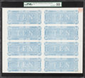 Confederate Notes:1864 Issues, T68 $10 1864 Uncut Sheet of Eight Backs.. ...